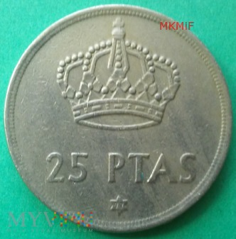 25 ptas Hiszpania 1975