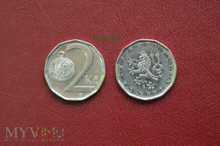 Moneta czeska: 2 koruny české