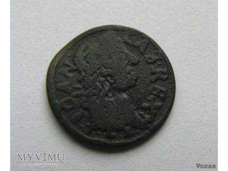 szeląg koronny 1663 15