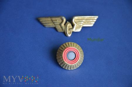 Niemiecka kolej - odznaka bączek na czapkę