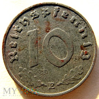 Duże zdjęcie 10 reichspfennigów 1940 Niemcy (Trzecia Rzesza)