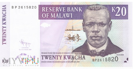 Malawi - 20 kwacha (2009)