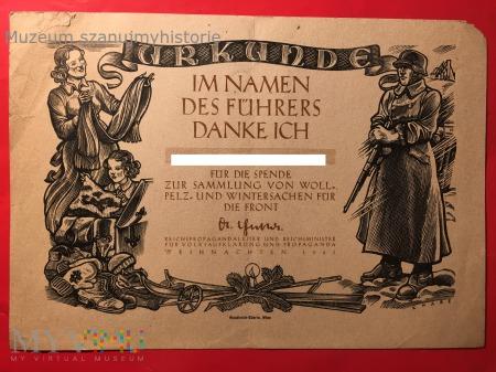 KWHW Urkunde 1941