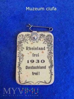 Duże zdjęcie Rheinland frei 1930