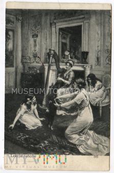 Lekcja tańców - pocz. XX wieku