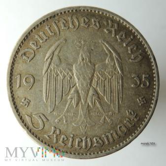 5 Marek 1935 A kościół 5 Reichsmarek