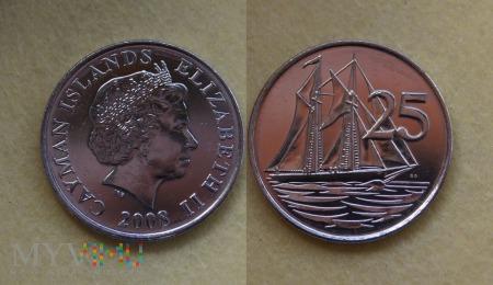 Kajmany, 25 centów 2008