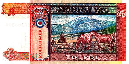 Baknot 5 Tugrików z Mongolii