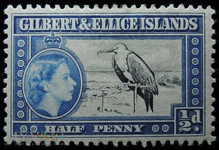 Wyspy Gilberta i Ellice 1/2d Elżbieta II