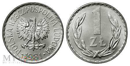 1 złoty, 1981