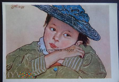 Wyspiański Stanisław  Dziewczynka w niebieskim