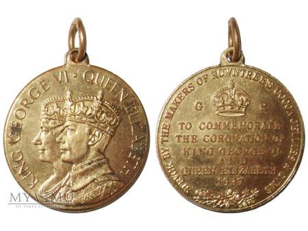 Jerzy VI & Elżbieta medal koronacyjny 1937