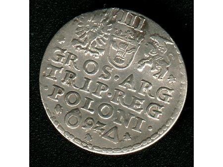 Trojak mennica Malbork- 1592r