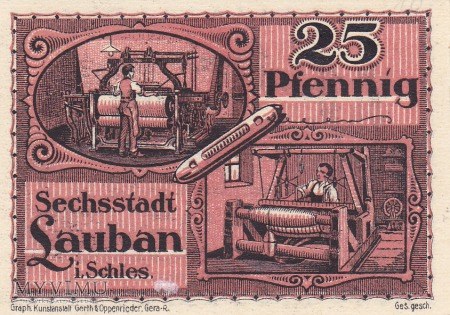Notgeld Lauban 25 Pfg.