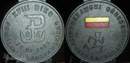 079. Medal XVIII Bieg Powstania Warszawskiego 2008