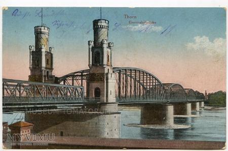 Toruń - Most kolejowy - 1915