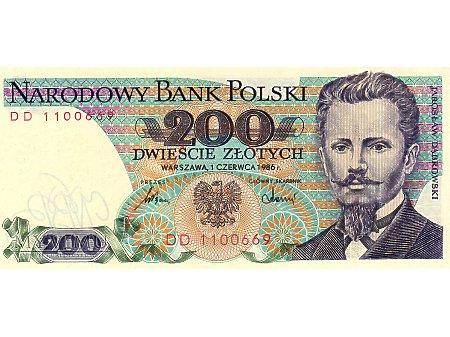 200 Złotych 01.06.1986 r.
