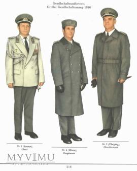 Gesellschaftsuniform oficera NVA DDR