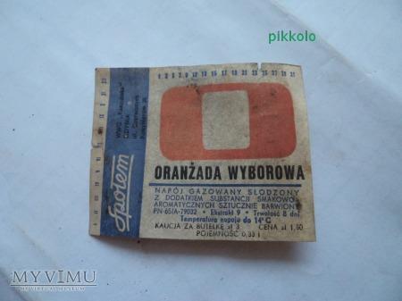 oranżada wyborowa-etykieta