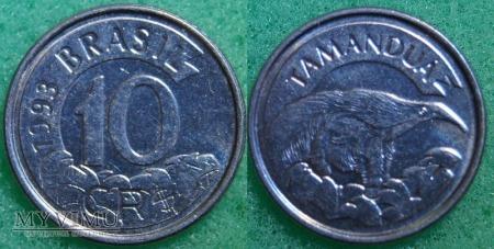 Brazylia, 10 cruzeiros 1993