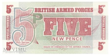 Duże zdjęcie Wielka Brytania (BAF) - 5 nowych pensów (1972)