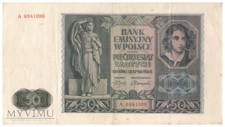 Duże zdjęcie Polska - 50 złotych (1941)