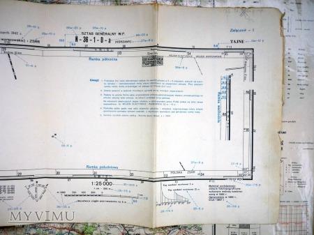 ZNAKI UMOWNE dla map topo 25, 50 i 100 tys W. 1951