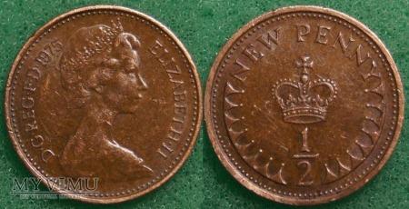 Wielka Brytania, half penny 1975