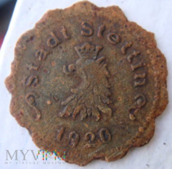 Ersatzgeld 50 Pfennig, 1920 rok, Stadt Stettin