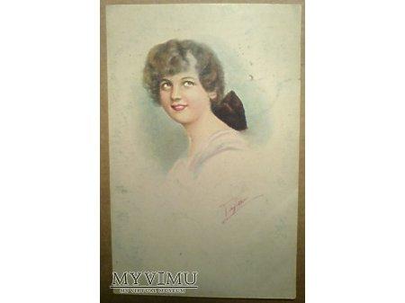 Portret Dziewczyna z kokardą Poznań 1923