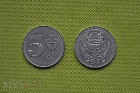 Moneta kirgiska: 5 com (3 somów)