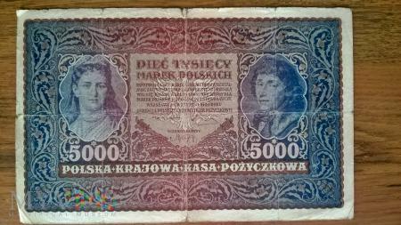5000 marek polskich 1920r.
