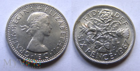 Wielka Brytania, SIX PENCE 1967