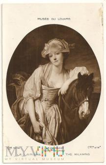 The Milkmaid by J.B.Greuze.a