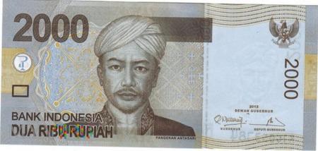 INDONEZJA 2000 RUPII 2012