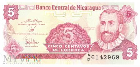 Nikaragua - 5 centavos (1991)