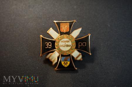 Duże zdjęcie Odznaka 39 Pułku Artylerii ; Nr:90