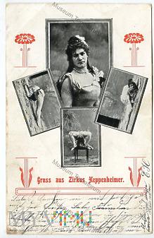 Gruss aus Zirkus Heppenheimer - 1908