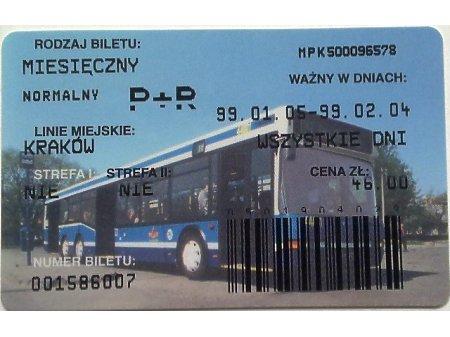 Bilet MPK Kraków 58
