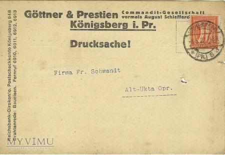 Gottner & Prestien Konigsberg 1922 r.