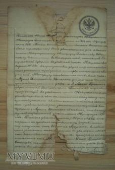 Duże zdjęcie dokument carski, rok 1882