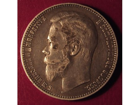1 Rubel 1901r. Ag 900 - Rosja