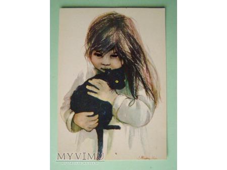 3. Dziewczynka z czarnym kotem