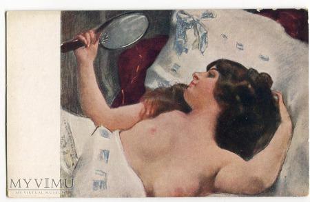 Piękna panna z lusterkiem Tadeusz Okoń