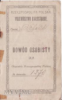 Dowód Osobisty-Nowodziel 1922.