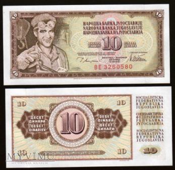 Yugoslavia - P 87a - 10 Dinars - 1978