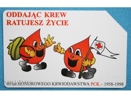 40 lat Honorowego Krwiodawstwa PCK 1958-1998