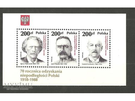 70 rocznica odzyskania niepodległości.