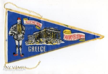 Duże zdjęcie Proporczyk souvenir - Grecja Ateny lata 70-te