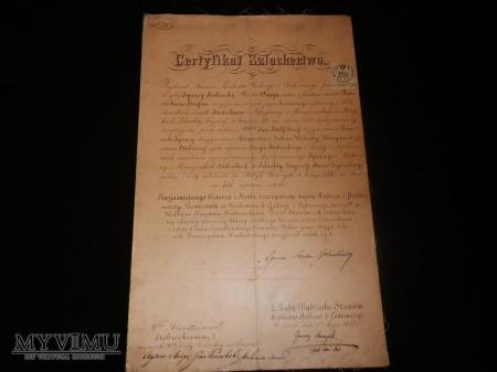 Herb Ostoja- Certyfikat Szlachectwa Stobiecki